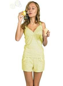 9583e25789e0 Пижама женская шорты майка интерлок КК-06-02 абстракция 004 - фото Пані  Яновська