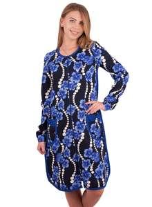 Тёплый халат ХЖ-21 абстракция 299 + синий - фото Пані Яновська a995a932fc083