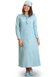 Ночная рубашка тёплая длинная СН-02 абстракция 409 - фото Пані Яновська. Нічна  сорочка ... de4a40710639c
