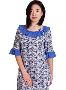 Женская ночная рубашка СЖ-03 абстракция 354 - фото Пані Яновська. Жіноча нічна  сорочка ... b832b3d9d3dbd