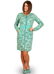 Тёплый женский халат на молнии ХЖ-18 абстракция 404 - фото Пані Яновська.  Теплий жіночий халат на блискавці ... 56293fa54beb6