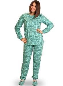 Пижама женская брюки кофта длинный рукав КК-04-02 абстракция 404 - фото Пані aac1b661bed40