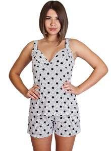 Пижама женская шорты майка на бретелях КК-01-02 абстракция 327 - фото Пані 01c1849c3b7cb