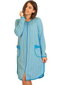 Тёплый халат с длинным рукавом ХЖ-21 абстракция 407 - фото Пані Яновська 9bec6c2c5fc0d