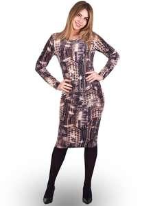 Велюровое платье женское ПВ-02 абстракция 308 - фото Пані Яновська 3c607bf011198