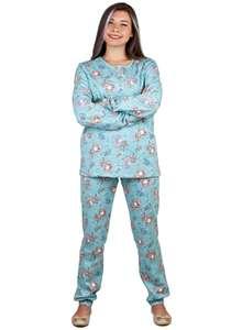Пижама женская брюки кофта длинный рукав КК-04-02 абстракция 458 - фото Пані Яновська