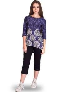Комплект женский бриджи футболка 3 4 рукав КР-01 абстракция 382 + тёмно- d6c1a184e4bed