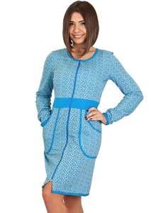 Тёплый женский халат на молнии ХЖ-18 абстракция 407 - фото Пані Яновська d3349a0a17684