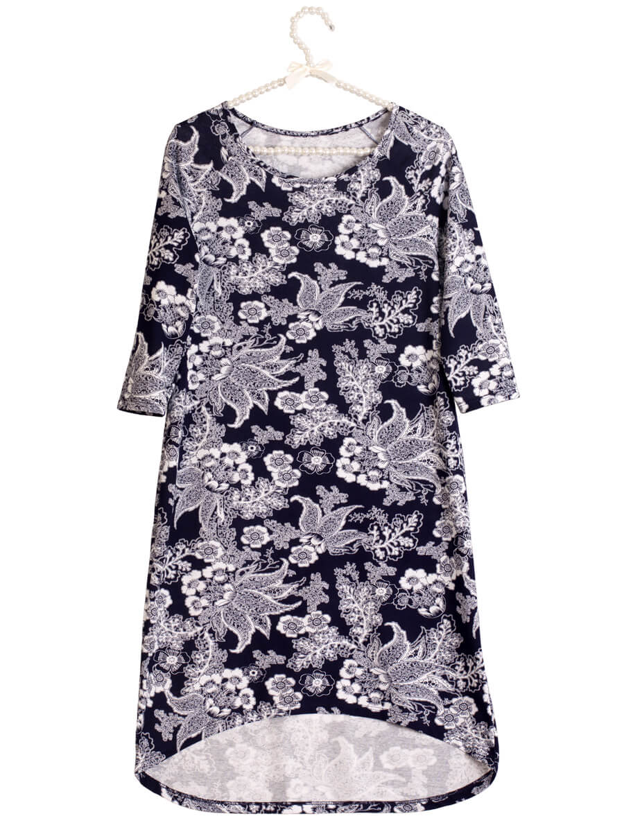 6dc99f36fad31f Платье ночнушка 3/4 рукав СР-04 абстракция 368 - купить оптом по ...