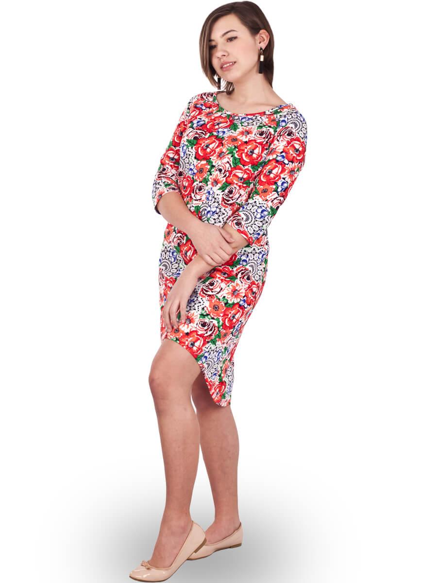63e7fa30c99b0a Платье ночнушка 3/4 рукав СР-04 абстракция 366 - купить оптом по ...
