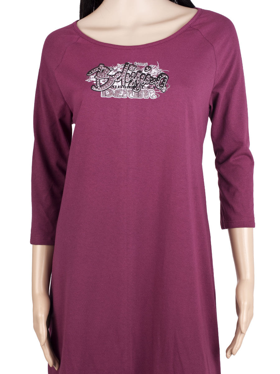 31a641402ac717 Платье ночнушка 3/4 рукав СР-04 бордовый - купить оптом по цене от ...