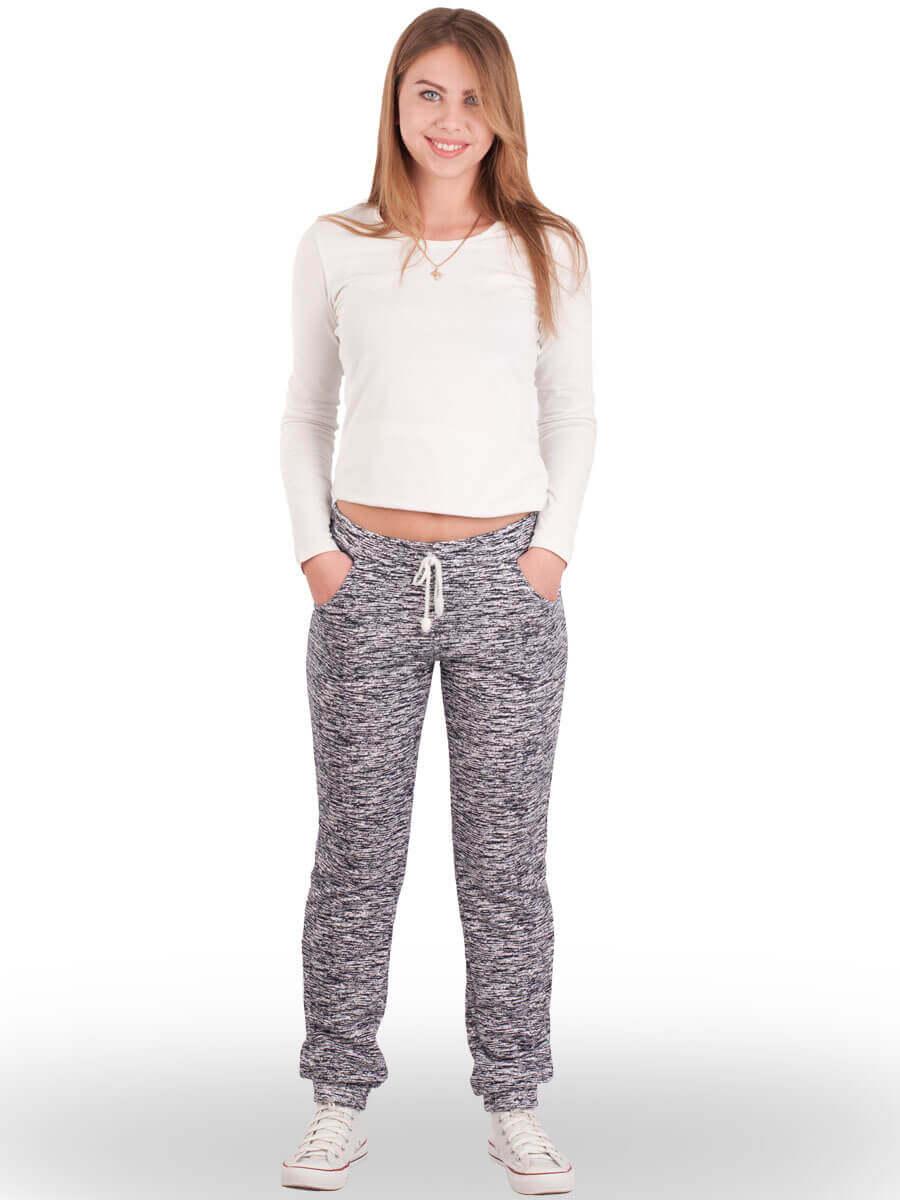 Спортивні штани жіночі з манжетом тринитка БТ-03 абстракція 297 ... 5a05dd9bd6e41
