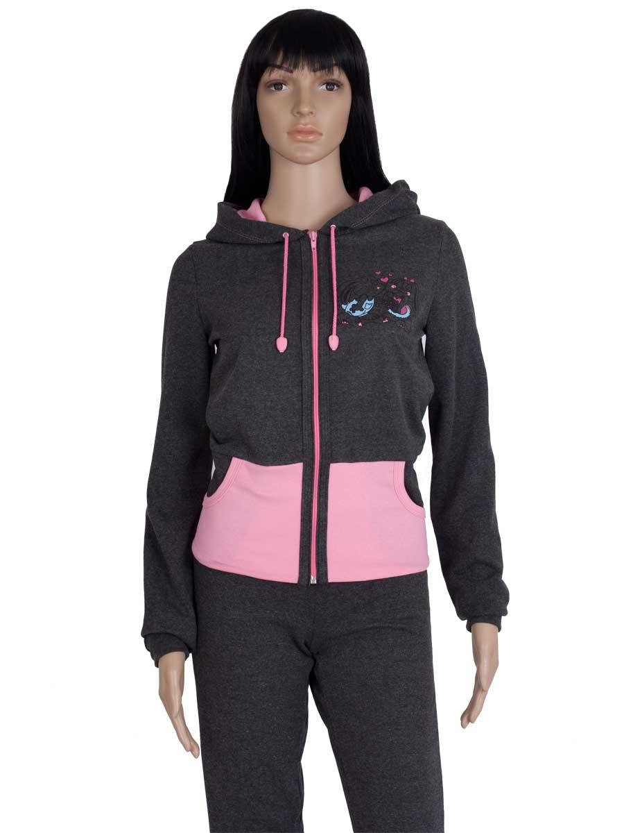 bc75e972bf7d Спортивный костюм женский зайка начёс КЖ-05-02 антрацит - купить ...