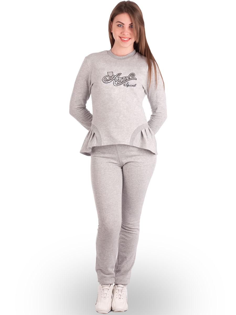 Теплий спортивний костюм жіночий начіс КЖ-08 сірий - купити оптом по ... 5b781a4a91609