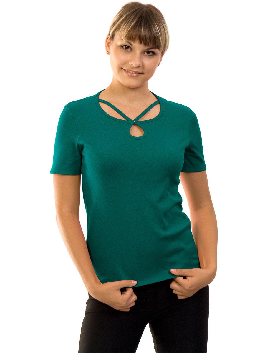 Женская футболка короткий рукав стрейч ФЖ-02 изумрудный - купить ... a0696afe32c53