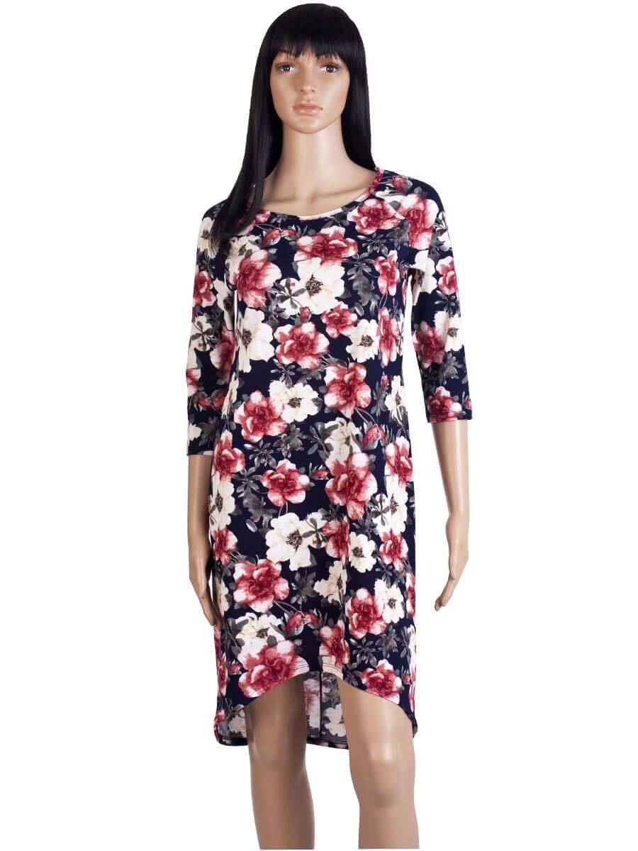 fabb3a6445f480 Платье ночнушка 3/4 рукав СР-04 абстракция 320 - купить оптом по ...