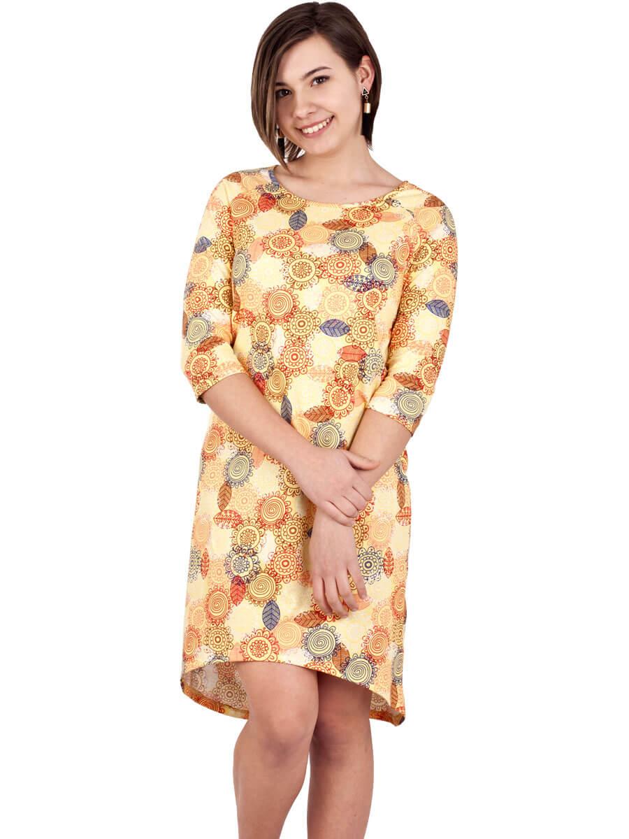 f8303d3b1c6f59 Платье ночнушка 3/4 рукав СР-04 абстракция 340 - купить оптом по ...