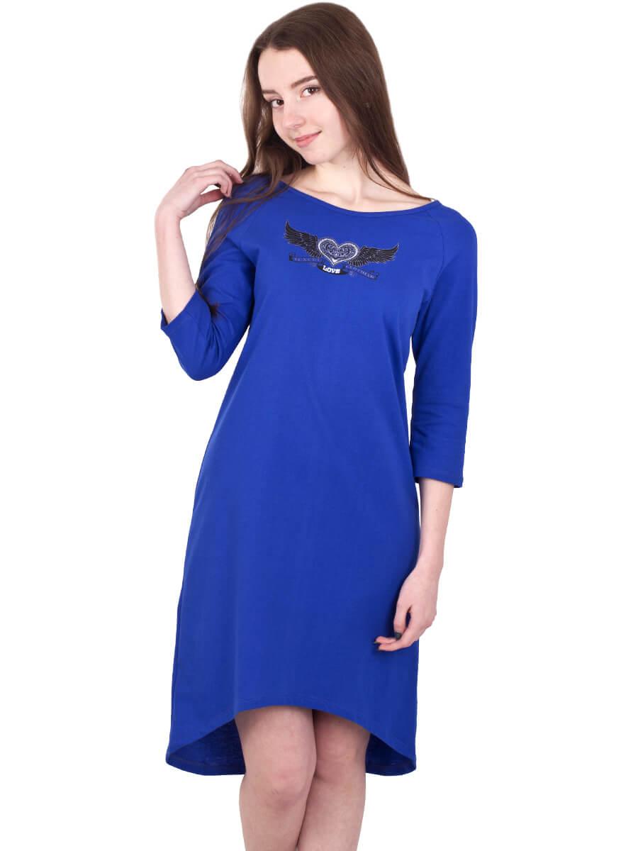 ac67c26e164f07 Платье ночнушка 3/4 рукав СР-04 электрик - купить оптом по цене от ...