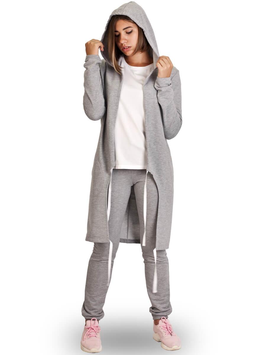 Кардиган жіночий ЖК-01 сірий - купити оптом по ціні від 224 e0f43bee72415