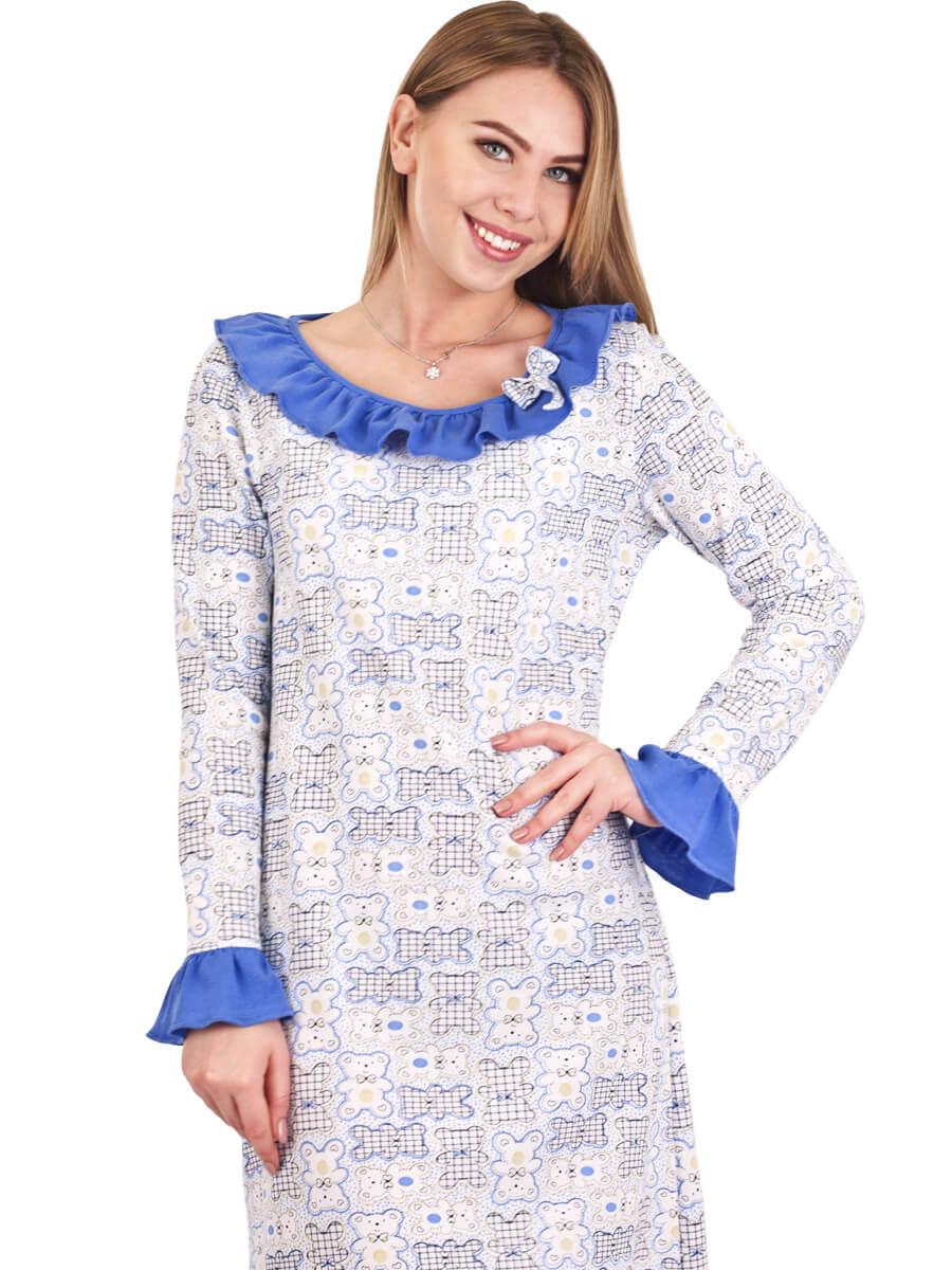 Нічна сорочка тепла довга СН-03 абстракція 359 - купити оптом по ... 8e7c6025e523e
