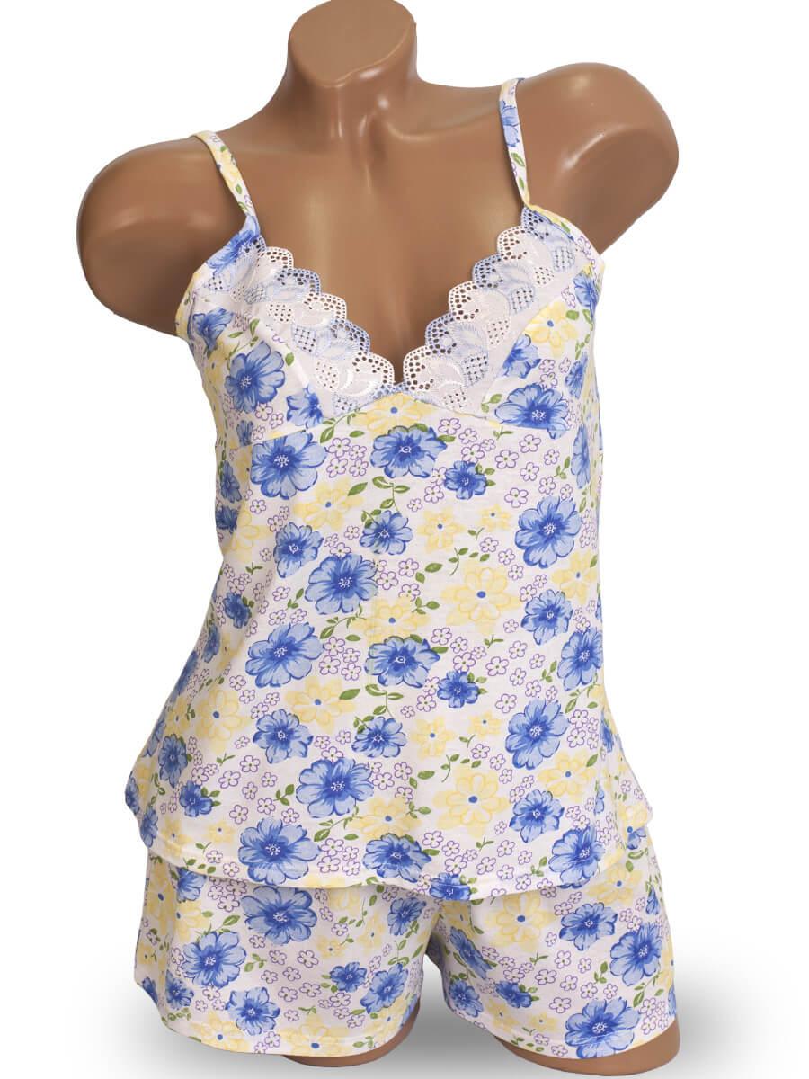 ec5777611f71 Пижама женская шорты майка на бретелях КК-01 абстракция(УЦЕНКА) - фото 0 ...